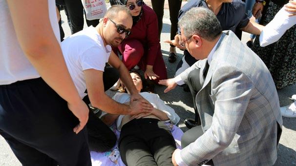 Kazayı Gören Rektör İlk Müdahaleyi Gerçekleştirdi