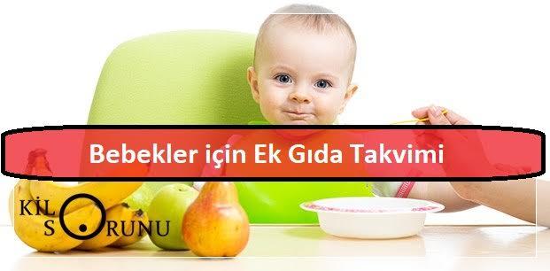 Bebekler için aylara göre ek gıda takvimi