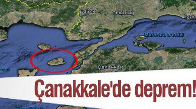 ŞİMDİ DEPREM SIRASI ÇANAKKALE'DE